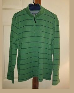 Banana Republic Pullover Sweater 1/4 Zip Green
